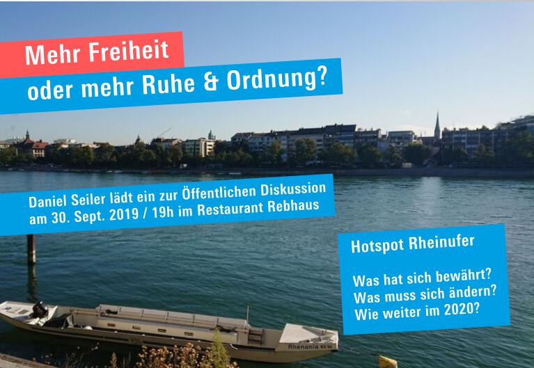 """Daniel Seiler ladet ein zur öffentliche Diskussion """"Hotspot Kleinbasler Rheinufer"""""""