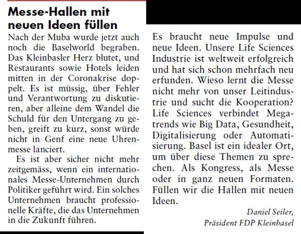 Zum Untergang der Baselworld: Füllen wir die Messe-Hallen mit neuen Ideen.