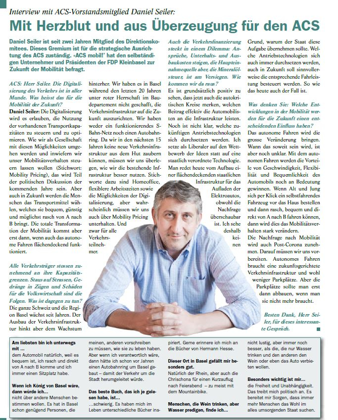 Interview über die Mobilität der Zukunft und die Möglichkeiten der Digitalisierung